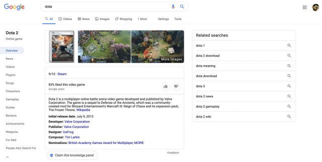 Новый дизайн SERP отGoogle